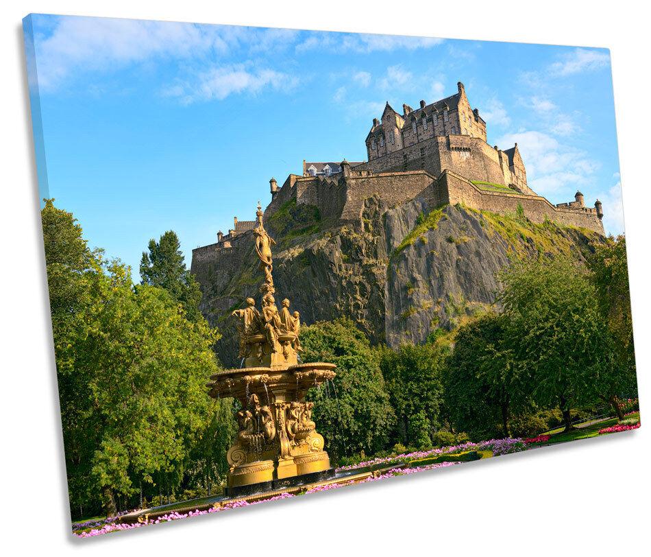 Edinburgh Castle Scotland SINGLE SINGLE SINGLE CANVAS WALL ART Picture Print eecadf