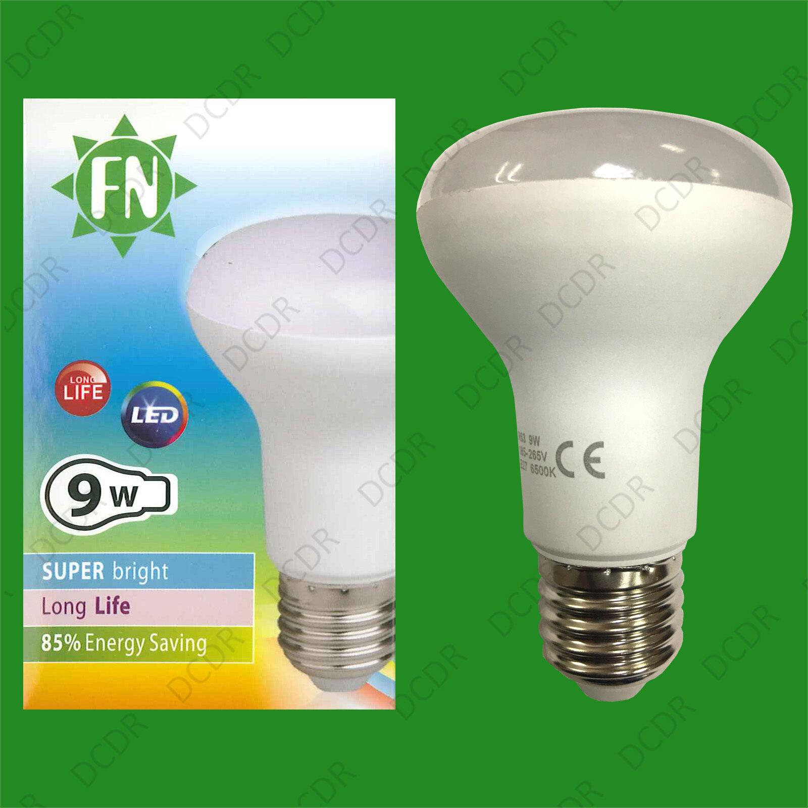 10x 9W ES E27 R63 Reflector Lamp 730lm, 6500K Daylight Weiß LED Spotlight Bulbs