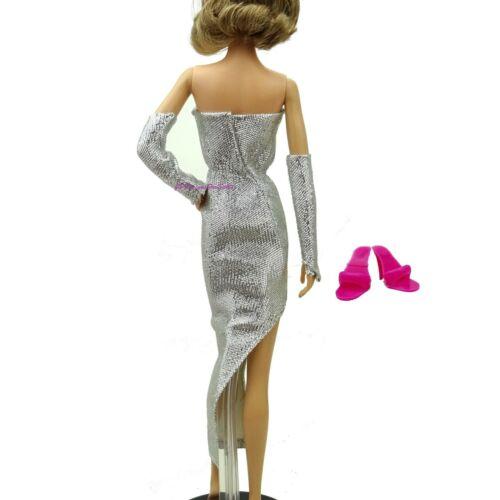 1983 Barbie Silver Sensation nouvelle robe jupe Wrap Cape Chaussures OUT OF BOX