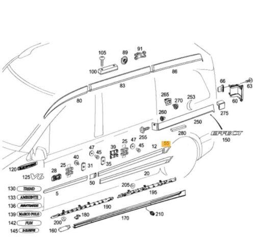 NUOVO Originale Mercedes Benz Vito W639 arco ruota posteriore sinistra A63969027629999 stampaggio