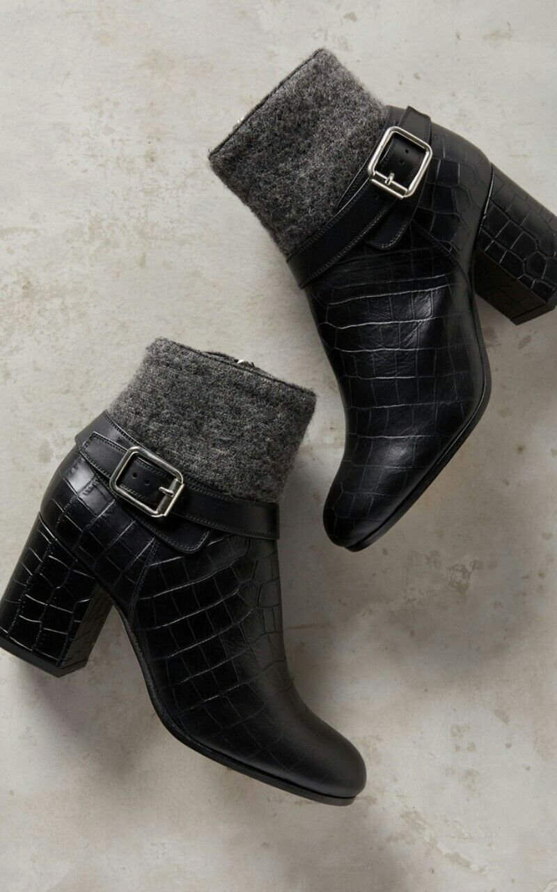 Anthropologie Deimille Christine Ankle Boots by Deimille Embossed Size 36 $478