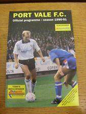 17/11/1990 PORT VALE V Oldham Athletic. l'oggetto sembra in buono stato U