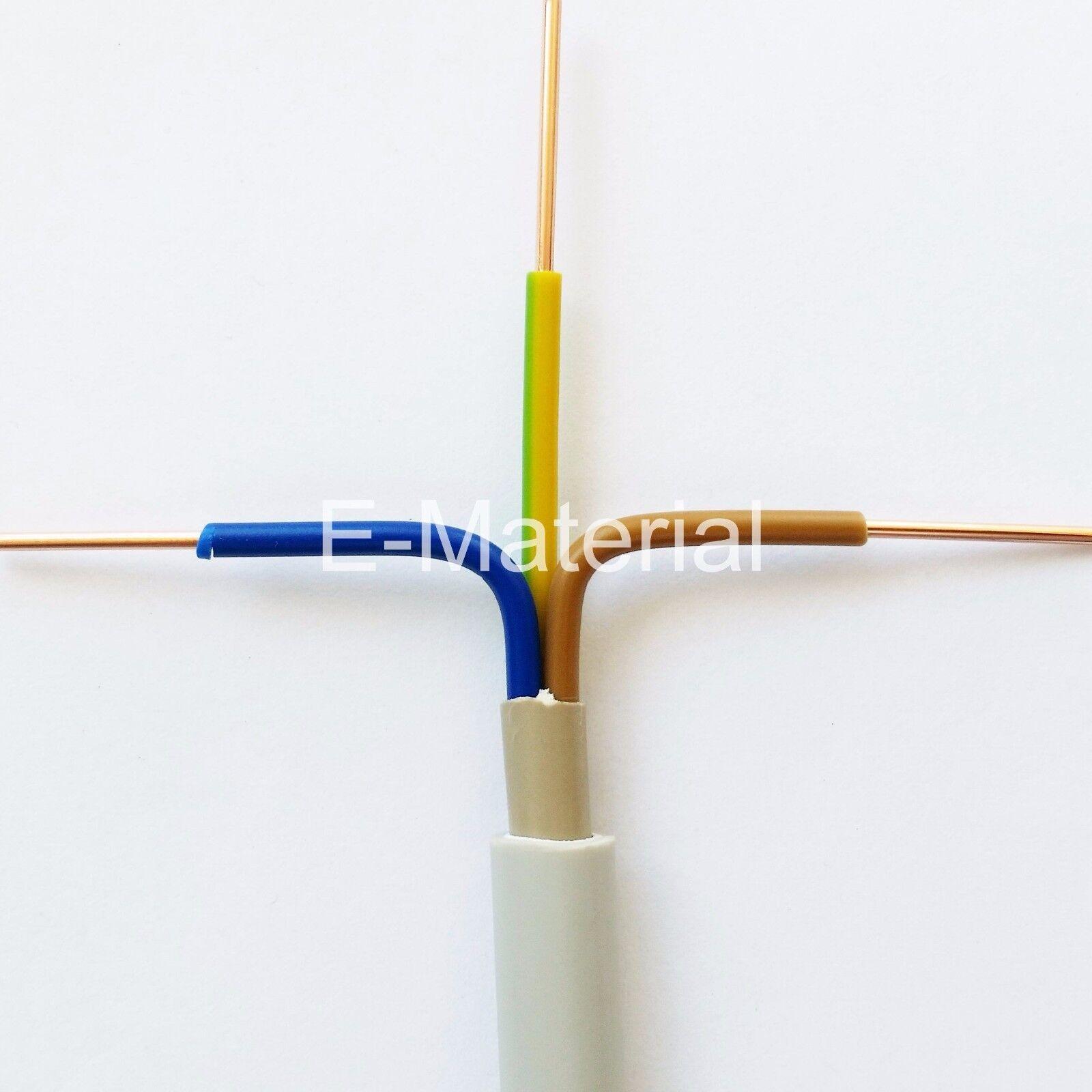 Kabel NYM-J 3x2,5 mm² 100m Ring - Elektrokabel Feuchtraumleitung Kupferkabel Neu