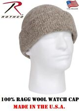 620651d86d0 100 % Wool Knit Ragg Wool Watch Cap Heavy Weight Thick Winter Cold Weather  5646