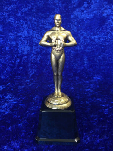 Oscar Stile Trophy ORO ANTICO DRAMMA TEATRO Scuola Accessorio circostante Prom INCISIONE GRATUITA