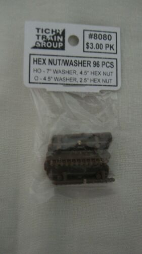 """Bolt 7/"""" Washer Pkg of 96 Tichy Train Group 8080 HO Hex Nut//Washer 4.5/"""" Hex Nut"""