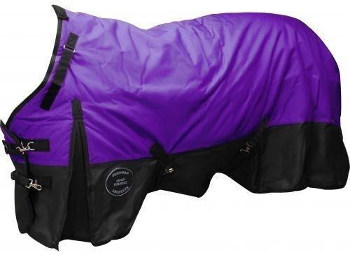 "Showman 68/"" PURPLE//BLACK 1200 Denier Waterproof Turnout Horse Blanket NEW TACK!"