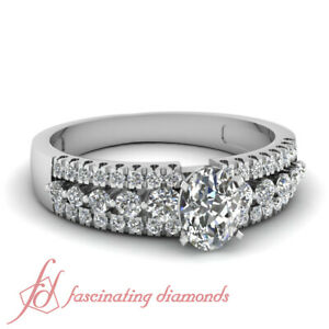 90-Ct-Three-Row-Pave-Set-Diamond-Rings-For-Women-Engagement-With-Oval-Shaped
