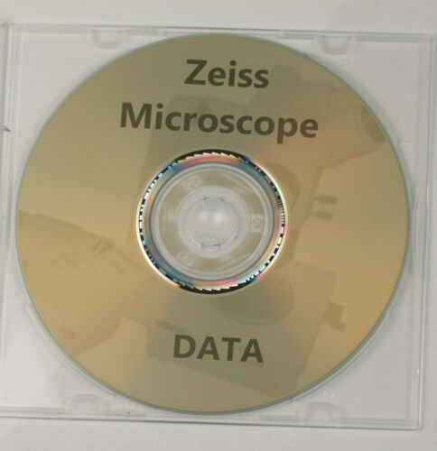 Zeiss microscope data manuals guides vintage reference materials brochures