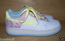 Nike Air Force 1  '82 White & Pink w/ Yellow Laces 314219-171 Sz 5.5 Youth