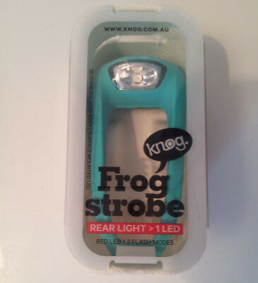 Brand New Pink Knog Frog Strobe LED Rear Bike Light
