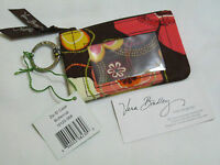 Vera Bradley Buttercup Zip Id Coin Change Key Case For Purse Tote Backpack