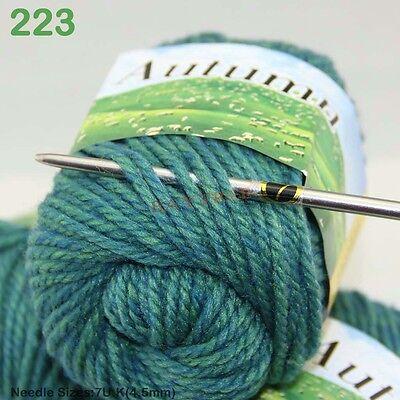 Sale LOT of 1 Ball X 50gr Chunky Thick Soft warm Wool Hand Knitting solid Yarn B