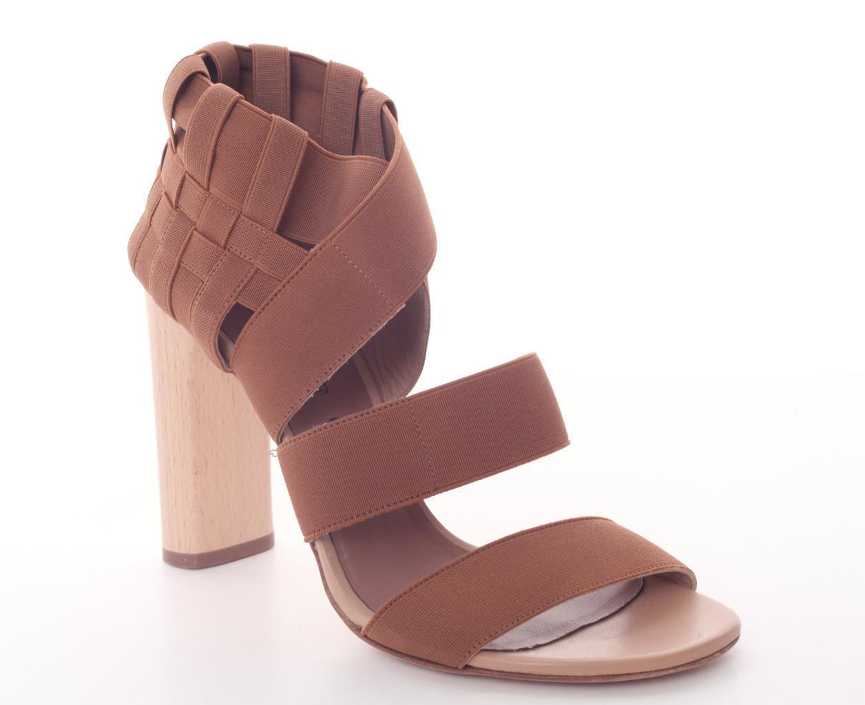ACROBATS OF GOD Brown Brown GOD Elastic High Heel Cuff CHEROKEE Sandal Pump NEW $528 e2368b