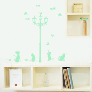 Cat-Street-Glow-In-The-Dark-Luminous-Fluorescent-Wall-Stickers-Ceiling-Decor