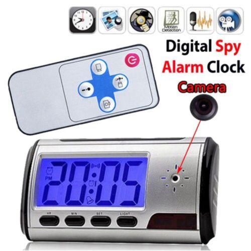 Spy Clock Alarm Camera Security Hidden DVR Motion Detector Recorder Camcorder