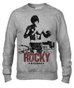 Rocky Balboa boxing training film men`s crew neck sweatshirt