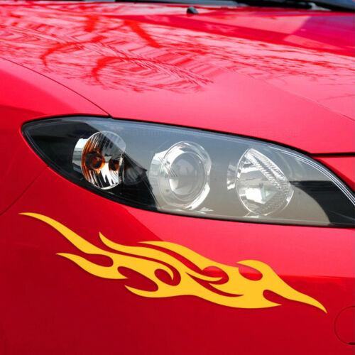 1Pair Flame Fire Racing Car Reflective Stickers Car Bumper Door Cool Vinyl Decor