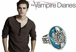 The-Vampire-Diaries-Stefan-Salvatore-S-Crest-Lapis-Antique-Silver-Daylight-Ring