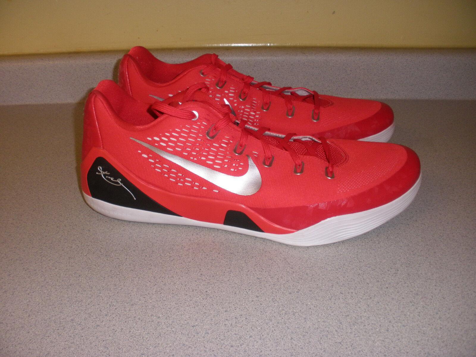 682776-602 NIKE Kobe IX 9 Men's Basketball Shoes Size 18 RED