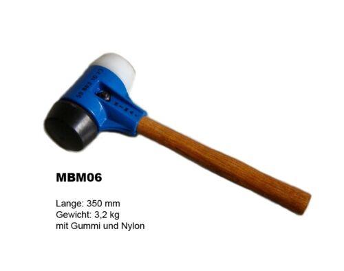 Pro Hammer Paving Plattenleger Hammer Hand Tool Rubber Hammer Mbm06