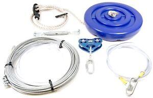 20-Mtr-Garden-Zip-Wire-Line-Complete-Kit-10-Stone-Limit-Outdoor-Fun
