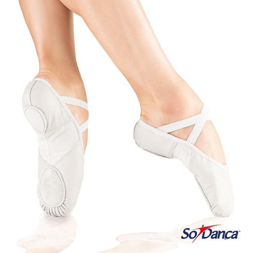 CLOSING DOWN SALE 75% OFF - So Danca WHITE Split Sole Leather Ballet Shoe