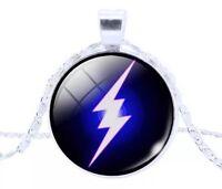 The Flash DC Comics Cabochon Necklace Silver US Seller