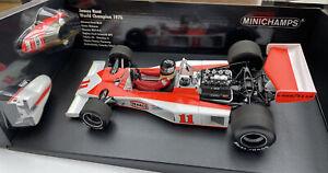 McLAREN Ford M23 F1 car James Hunt World Champion 1976 1:18th MINICHAMPS 760011