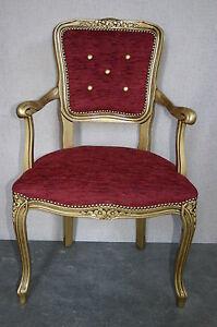 Poltroncina poltrona camera da letto imbottita colore oro patinato ebay - Poltroncina camera da letto ...
