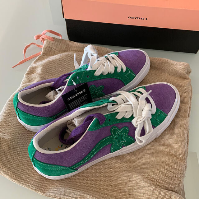 Converse x Tyler One Star Golf Le Fleur OX Purple Heart Jolly Green  Sneakers 9