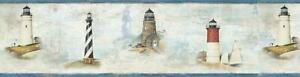 Wallpaper-Border-Chapin-Blue-Sunset-Waters-Lighthouses-Blue-Trim