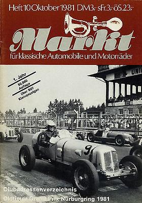 Auto & Motorrad: Teile Oldtimer Markt 1981 10/81 Ami Gnom Panhard Dynamic Cabrio Mercedes 190 Sl Inhalt Modische Und Attraktive Pakete