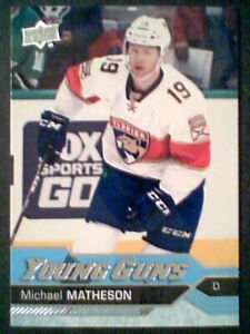 MICHAEL-MATHESON-16-17-AUTHENTIC-UDS1-YOUNG-GUNS-CARD-SP
