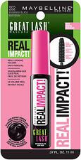 Maybelline New York Great Lash Real Impact Washable Mascara, Brownish Black