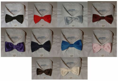 BOYS BOW TIES,TIE WITH BAND FASTENER LOTS OF COLOURS