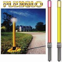 Flexstake Flex Glow Driveway In Ground Marker...flexible Post...48....white