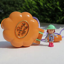 Mini Polly Pocket Camp Days Locket Blumen Kettchen mit Band Medaillon