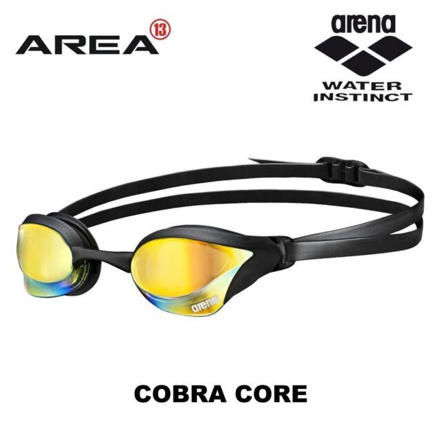 Arena Cobra Core Swimming Goggles - Black Mirror, Race - Racing Goggles