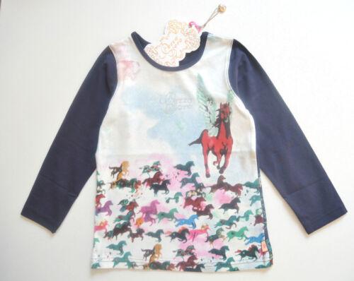 Réduit Pezzo D /'oro Chemise Longue T-shirt avec pferdeprint Taille 86-104 RRP 29,95 Neuf