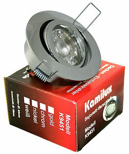 230V-LED-Einbaustrahler-Set-Kamilux9451-GU10-5W-Spot-Innen-amp-Aussen-Feuchtraum