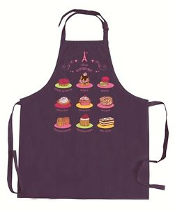 Torchons & Bouchons Adjustable Apron Purple French Patisseries