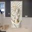 Stained Glass Murals Animals Door Sticker 3D Waterproof Wallpaper Wall Decals