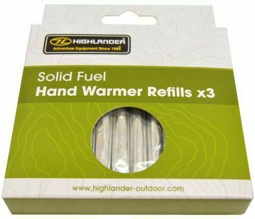 12 Solid Fuel Charcoal Handwarmer Refill Sticks Highlander   Winter