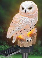 Solar White Owl Light Garden Light Up Owl White Owl Solar Yard Owl Fast Shipping