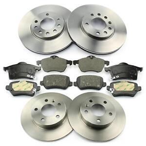 4x-Discos-de-Freno-Forros-Delantero-Trasero-Opel-Zafira-a-F75-con-ABS-Astra