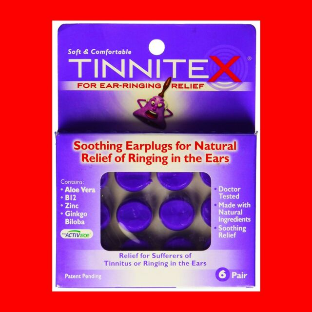 Tinnitex Earplugs Natural Lipo Vibes Tinnitus Relief Ringing in The Ear 6  Pair