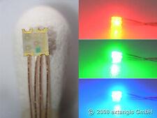 10x mezclador LED 0605 RGB diminutos + cu-cable 0,1mm rojo verde azul red Green Blue