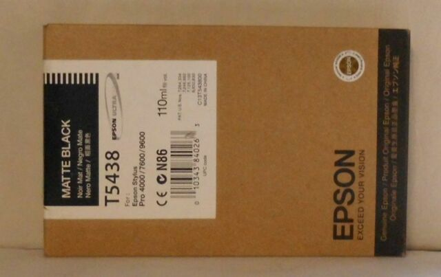 Original Epson T5438 Tinte matte black für Stylus Pro 4000 4400 7600 9600  2015