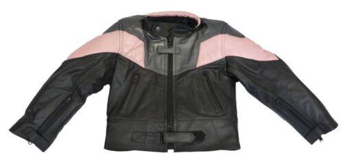 Baby Biker Champ Kids Toddler Childs Soft Leather Biker Style Jacket Pink T